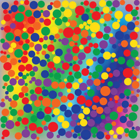 discrete: Bright rainbow dotted abstract background. Illustration