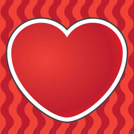 3d heart: 3D heart postcard background red color.