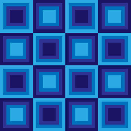 tessellation structure: Squares floor seamless pattern blue colors. Vector illustration Illustration
