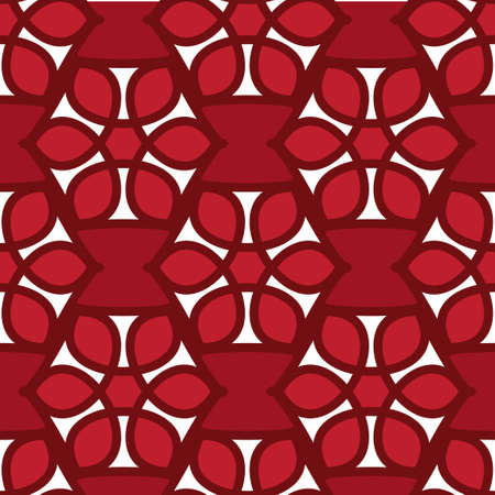tessellation structure: Floral seamless pattern red color. Vector illustration Illustration
