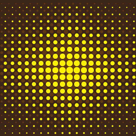 Brown and yellow halftone background.