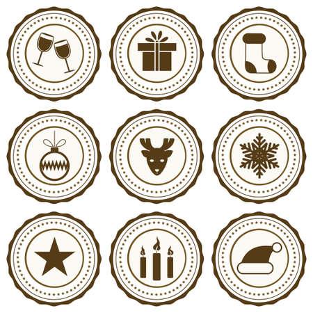 new year celebration: New Year celebration icons set