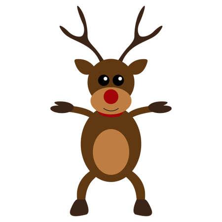 carols: Christmas deer character flat design Illustration
