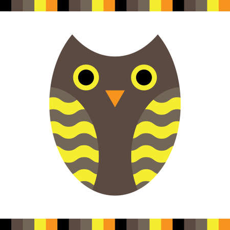 colores calidos: Owl stylized icon warm colors