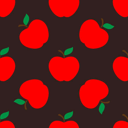 Apple dark seamless pattern background Illustration