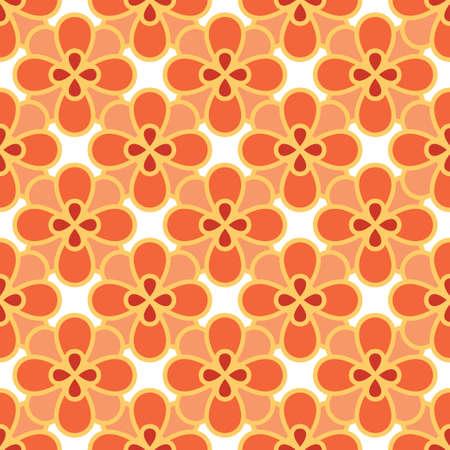 Art abstract flower seamless pattern Illustration
