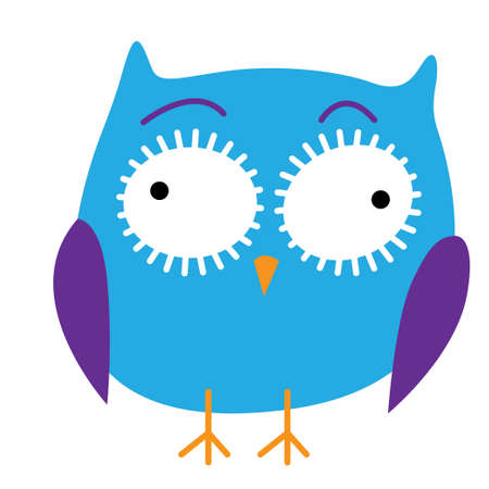 A crazy funny owl hand drawn vector illustration. Stock Vector - 88140340