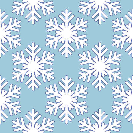 Blue pattern with snowflakes. Stock Vector - 88141015