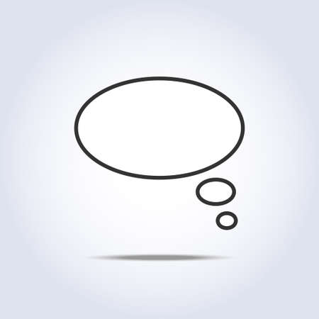 White speech thoughts bubbles icon Stock Vector - 88174769