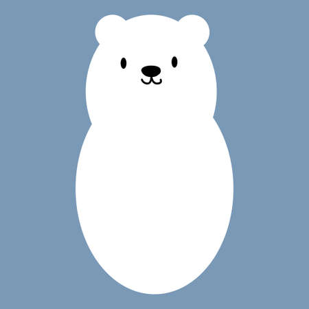 Polar white bear icon symbol. Vector illustration Stock Vector - 88184840
