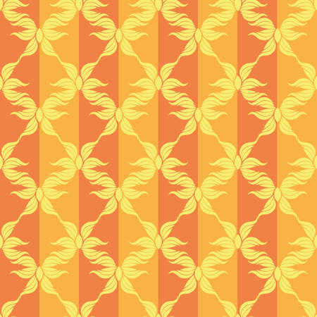 Abstract stars vintage orange pattern. Stock Vector - 88213424