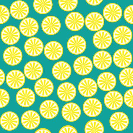 Lemon fruit pattern yellow and green Stock Photo - 90910859