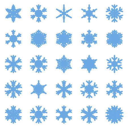 Set of different winter snowflakes Stock Vector - 92416037