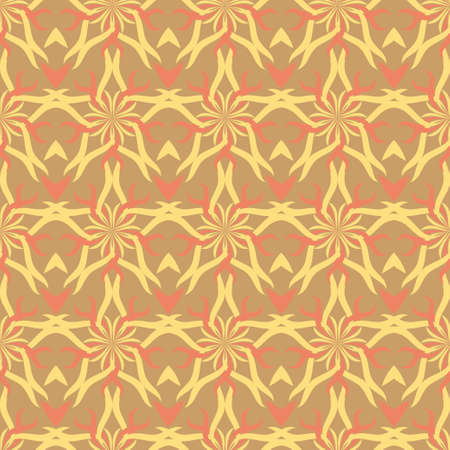 Abstract stars with vintage orange pattern
