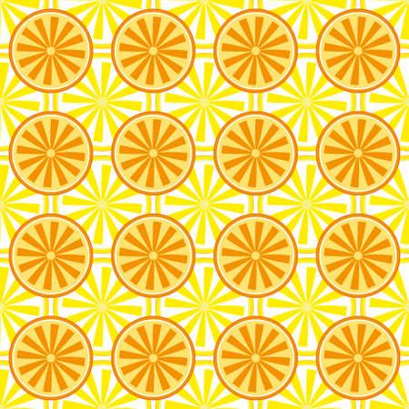 Lemon orange fruit pattern  in yellow.