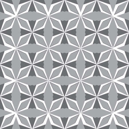 Art abstract geometric gray seamless pattern