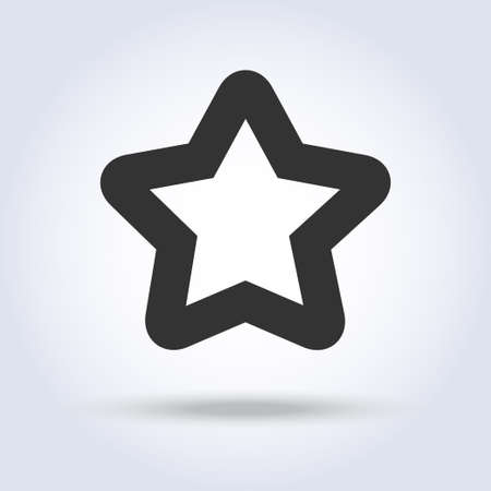 Star shape icon in flat design Stock Vector - 92311275