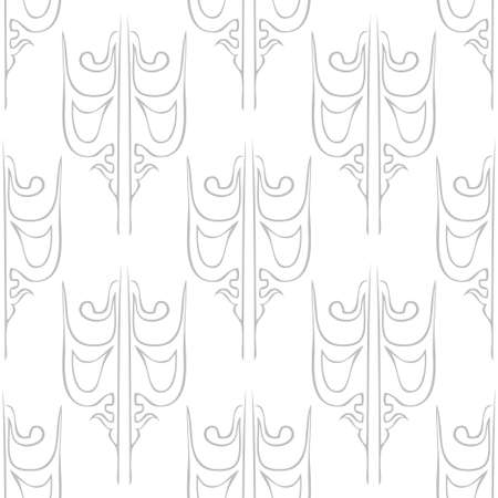 Seamless abstract vintage light gray pattern. Vector illustration