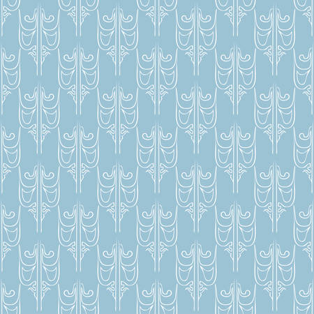 Seamless abstract vintage light blue pattern