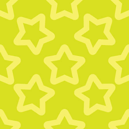 Seamless yellow pattern with stars