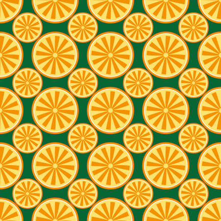 Orange fruit pattern yellow and green