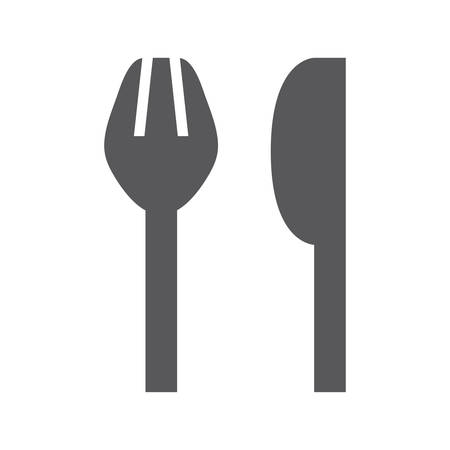 Simple fork and knife icon. Vector illustration
