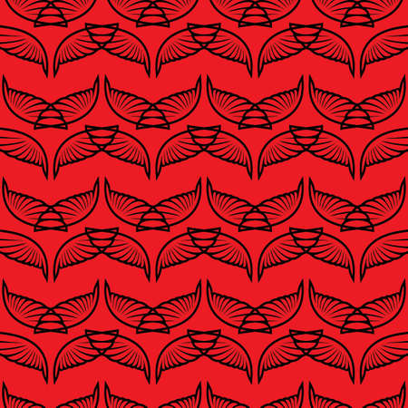 Angel wings red sketch pattern. Vector illustration Illustration