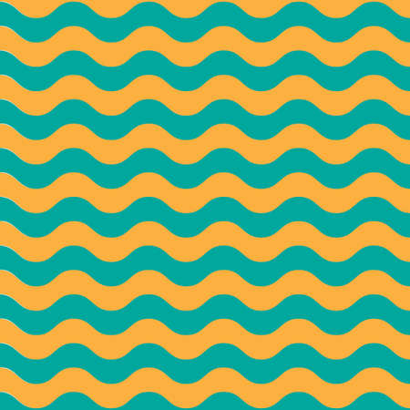 Wave sea horisontal pattern bright background Illustration