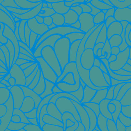 Seamless art pattern blue green color