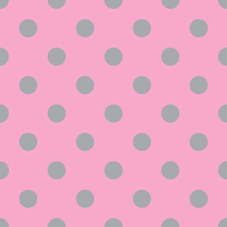 Pink and gray seamless polka dot pattern. Vector illustration Illustration