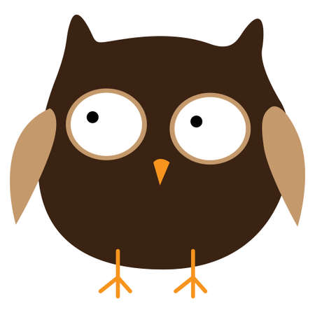 Crazy funny owl hand drawn. Vector illustration