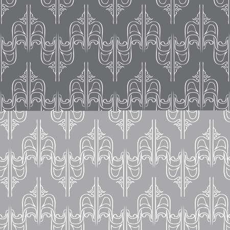 Seamless abstract vintage dark gray pattern.