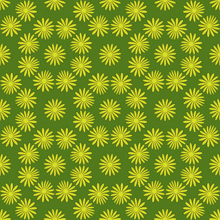 Flower seamless pattern bright green colors Illustration