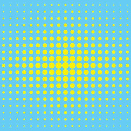 Modern textured halftone background yellow blue