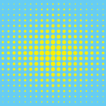 Modern textured halftone background yellow blue