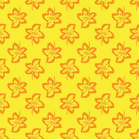 Flower seamless pattern bright yellow colors