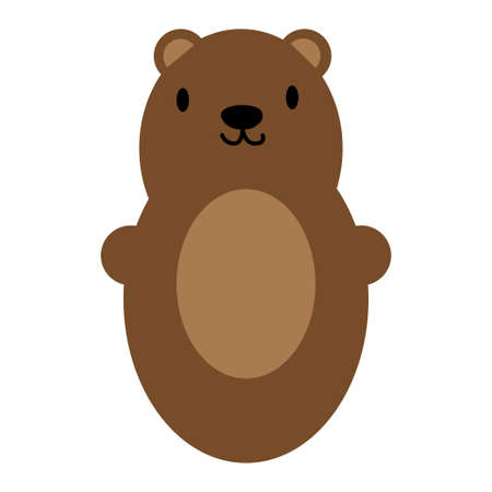 Brown bear toy icon symbol. Vector illustration