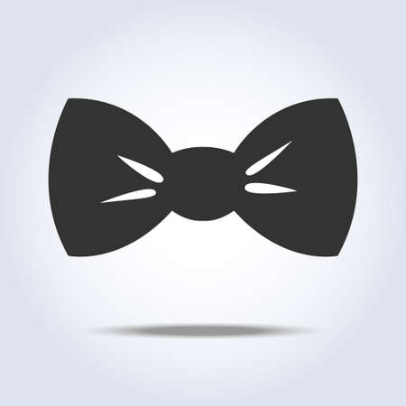 Bow tie icon gray colors. Vector illustration
