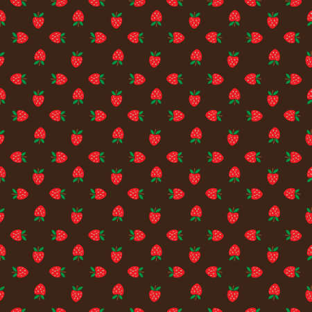 Abstract seamless brown strawberry background. Vector illustration Illustration