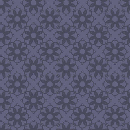 Seamless abstract vintage dark violet gray pattern. Vector illustration Illustration