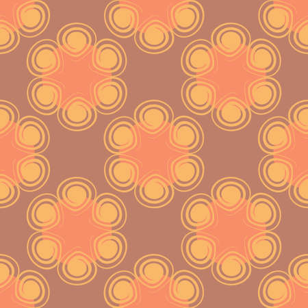 Seamless spiral flower pink pattern