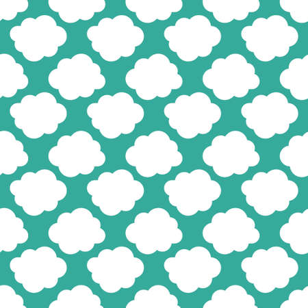 Clouds weather seamless pattern background. Vector illustration
