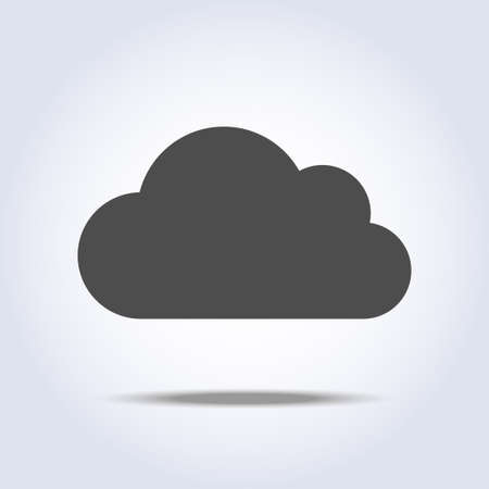 Cloud flat gray icon symbol