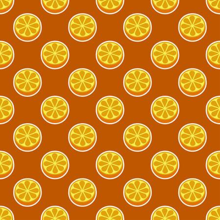 Orange fruit seamless bright pattern.