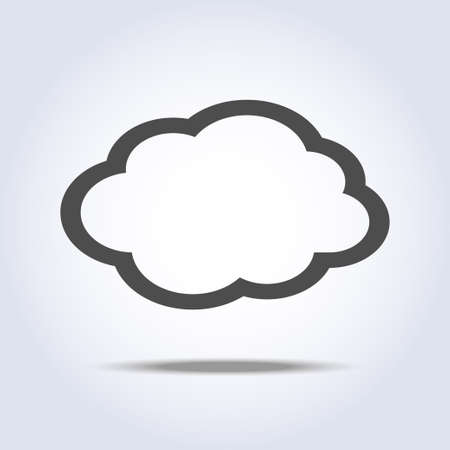 Cloud flat gray icon symbol Vector illustration.