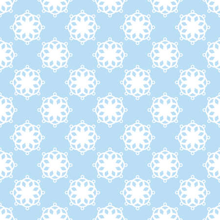 Seamless abstract vintage light blue pattern. Vector illustration