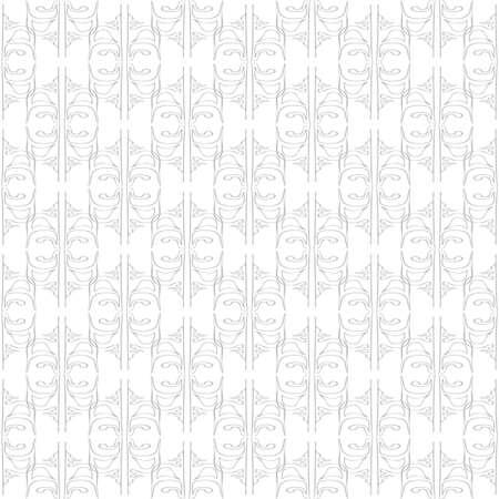 Seamless abstract vintage light gray pattern Illustration