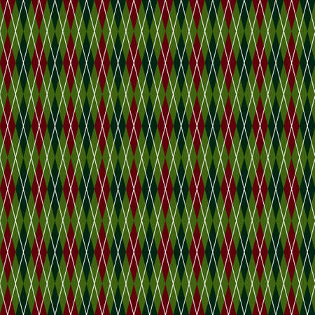 Rhombus seamless christmas geometric pattern Vector illustration. Illustration