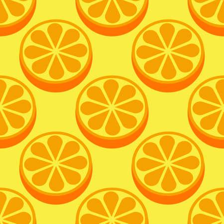 Orange fruit seamless bright pattern Illustration