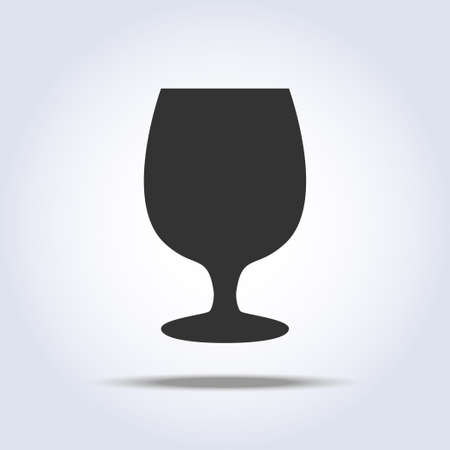 Wineglass object on white background Illustration
